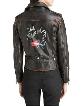 back-logo-leather-biker-jacket by saint-laurent