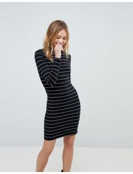 jdy-high-neck-stripe-bodycon-dress by jdy
