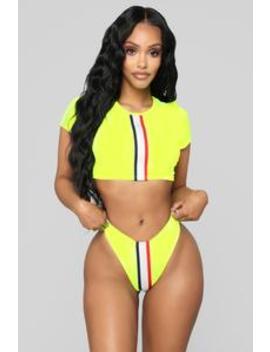barricade-bikini---neon-yellow by fashion-nova