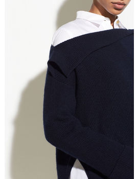 Asymmetrical Ribbed Pullover by Vince