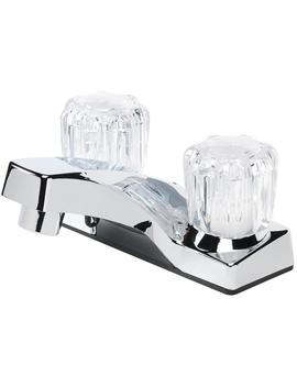 chrome-2-handle-4-in-centerset-bathroom-sink-faucet by lowes
