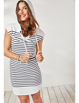 24/7 Hooded Stripe Shirtdress by Maurices