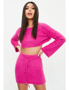 pink-fluffy-co-ord-mini-skirt by missguided
