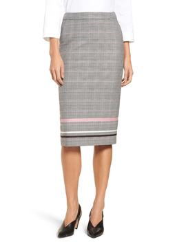plaid-stripe-pencil-skirt by halogen®