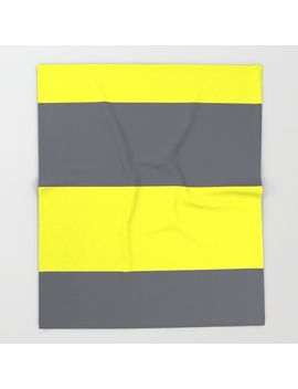 yellow-and-gray-horizontal-stripes-throw-blanket by valdez-design