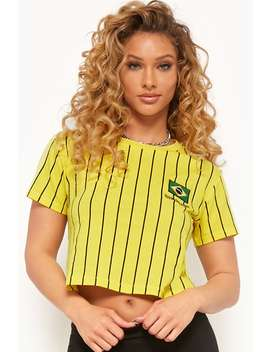 striped-rio-brasil-flag-patch-tee by forever-21