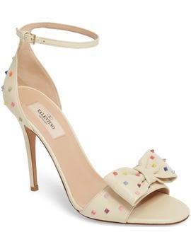 garavani-rainbow-rockstud-bow-sandal by valentino