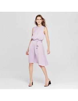 womens-sleeveless-wrap-waist-dress---mossimo-purple by mossimo