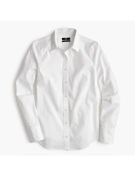 petite-slim-stretch-perfect-shirt by jcrew