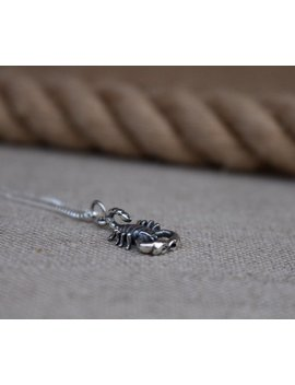 sterling-silver-scorpion-necklace,-entomologist-necklace,-scorpio by etsy