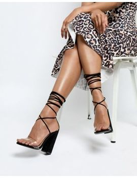 boohoo-clear-strap-lace-up-heeled-sandal by boohoo