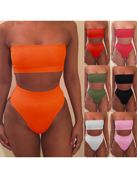 2018-sexy-bikinis-women-bikini-2018-set-off-shoulder-solid-bandage-push-up-padded-swimwear-swimsuit-beachwear-pluz-size-biquini by muqgew