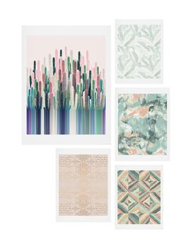 matcha-blush-five-piece-gallery-wall-art-print-set by deny-designs