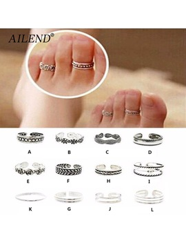 ailend-2018-new-ring-sets-mix-celebrity-fashion-simple-retro-carved-flower-adjustable-toe_foot-finger-ring-women-jewelry by ailend