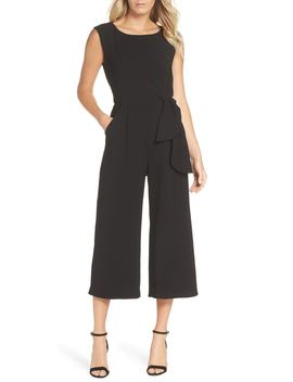 sleeveless-crepe-crop-jumpsuit by tahari