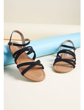 Inviting Optimism Strappy Sandal In Gold by Modcloth