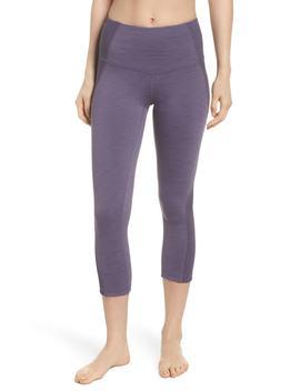 sporty-splice-high-waist-crop-leggings by zella