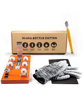 bottle-cutter-&-glass-cutter-bundle---diy-machine-for-cutting-wine,-beer,-liquor,-whiskey,-alcohol,-champagne,-water-or-soda-round-bottles-&-mason-jars-to-craft-glasses---accessories-tool-kit,-gloves by home-pro-shop
