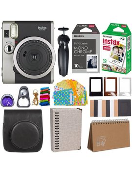 fujifilm-instax-mini-90-instant-camera-+-fuji-instax-film-(20-sheets)-+-giant-accessories-bundle(12-piece)-(black) by fujifilm