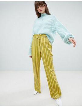 asos-design-belted-stripe-pants by asos-design
