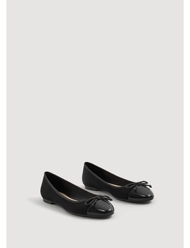 contrasting-tip-ballerinas by mango