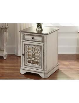 magnolia-manor-antique-white-chair-side-table by liberty