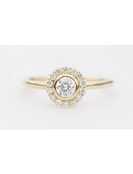 in-stock!-diamond-ring-14k-yellow-gold-round-brilliant-cut-diamond-halo-wedding-engagement-ring-stackable-christmas-gift-for-her-ad1286 by etsy