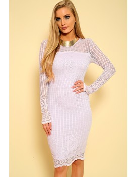 sexy-light-purple-embroidered-lace-bodycon-long-sleeve-formal-dress by ami-clubwear