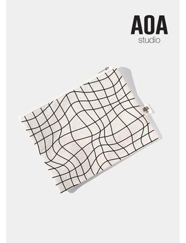 aoa-canvas-pouch---grid-lines by shop-aoa