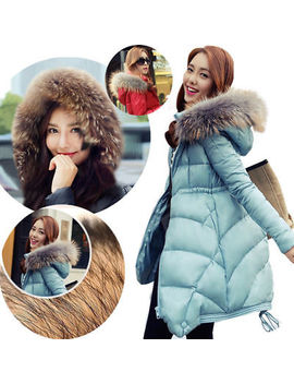 hot-winter-thicken-womens-fur-collar-long-duck-down-jacket-coat-parka-hooded by ebay-seller
