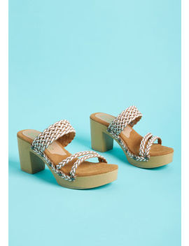 Sun Chaser Braided Leather Heel by Modcloth