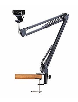 desk-clamp-mount-suspension-boom-scissor-arm-tripod-stand-holder-for-logitech-webcam-c922-c930e-c930-c920-c615 by acetaken