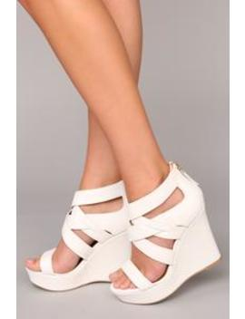 aryana-wedge---white by fashion-nova
