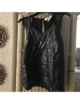 lola-by-bcbg!-faux-leather-top-with-lace-straps by bcbg