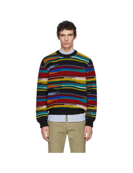 multicolor-stripe-crewneck-sweater by missoni