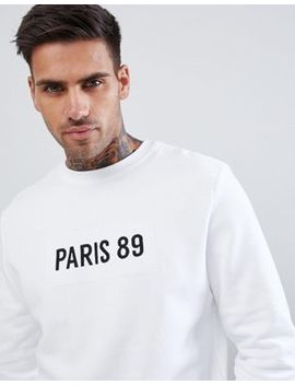 river-island-sweatshirt-with-paris-89-motif-in-white by river-island