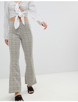 miss-selfridge-petite-wide-leg-pants-in-check by miss-selfridge-petite