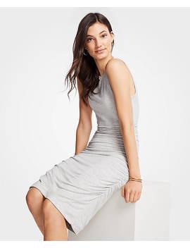 ruched-knit-sheath-dress by ann-taylor