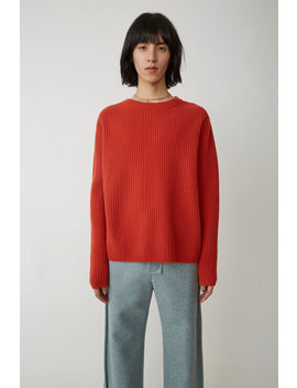 ribbed-sweater-red by acne-studios