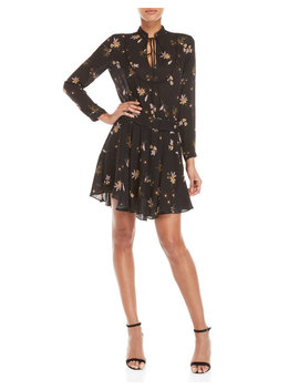 black-campbell-floral-belted-dress by alc