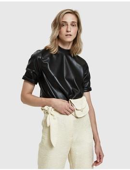 kaden-vegan-leather-top by nanushka