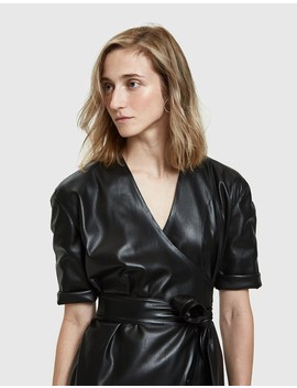 penelope-vegan-leather-dress by nanushka