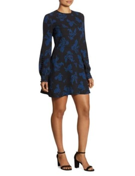 lauren-printed-long-sleeve-dress by alc