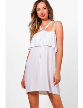cross-strappy-eyelet-swing-dress by boohoo