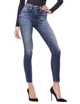 good-legs-high-waist-raw-hem-skinny-jeans by good-american