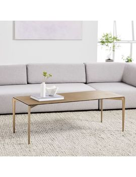 Textured Metal Coffee Table by West Elm