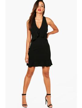 frill-detail-strappy-bodycon-dress by boohoo