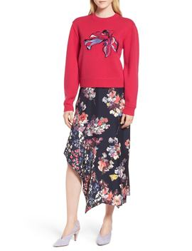 floral-embroidered-cashmere-blend-sweater by lewit