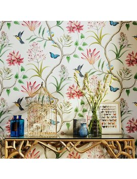 blooming-wall-mh1404-non-woven-vintage-flower-wallpaper-wallpaper-wall-mural-for-livingroom-bedroom-kitchen-bathroom,-208-in328-ft=57-sqft,multicolor-(99302) by blooming-wall