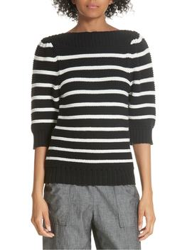 puff-sleeve-stripe-sweater by la-vie-rebecca-taylor